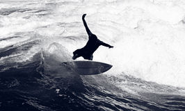 Surfer Riding the Waves Stock Photography