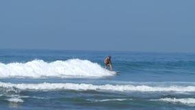 Surfer. Sri Lanka stock video footage
