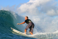 Surfer Ross Williams Surfing in Hawaii Stock Images