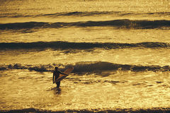 Surfer ` s Morgen Lizenzfreies Stockfoto