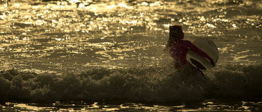 Surfer ` s Morgen Stockfoto