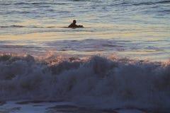 Surfer in San Francisco Lands End Stockfotos