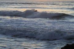 Surfer in San Francisco Lands End Lizenzfreie Stockfotos