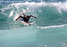 Surfer in Sardinia Stock Image