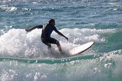 Surfer in Sardinia Stock Photography