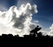 Surfer-Schattenbild Stockbild
