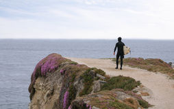 Surfer by sea Stock Images