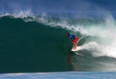 Surfer Shane Beschen Surfing at Backdoor Stock Image