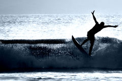 Surfer Silhouette Stock Photo