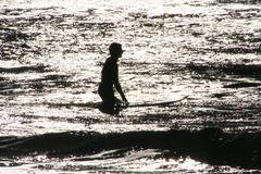 Free Surfer Silhouette Stock Image - 2549351