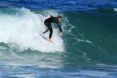 Surfer in Southport, Australië Stock Foto