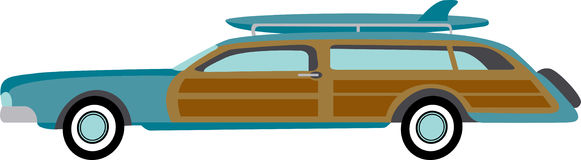 Surfer Station Wagon Royalty Free Stock Photo