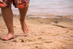 Surfer step Royalty Free Stock Photo