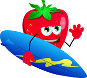 Surfer strawberry Stock Photography