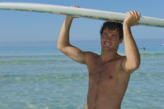 Surfer in summer Stock Photography