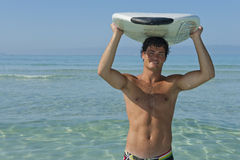 Surfer in summer Stock Image