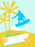 Surfer on summer background Royalty Free Stock Image
