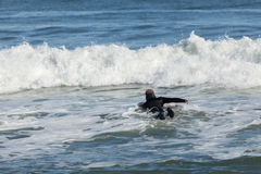 Surfer on Sunny Day Stock Photos