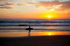 Surfer sunset Stock Photo