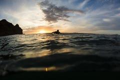 Surfer Sunset Royalty Free Stock Photo