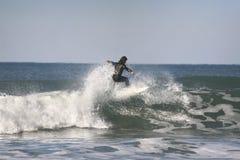 Surfer sur l'onde photos libres de droits