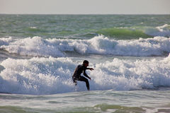 Surfer sur le 2ème championnat Impoxibol, 2011 Image libre de droits