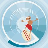 Surfer with surfboard. Royalty Free Stock Photography
