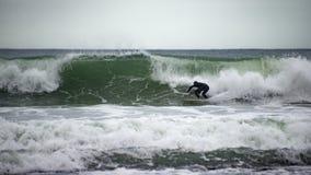 Surfer Surfing Wave Stock Images