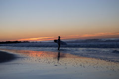 Surfer about to paddle out Royalty Free Stock Photo