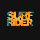 Surfer typography, t-shirt graphics Stock Photography