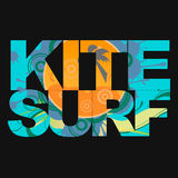 Surfer typography, t-shirt graphics, vectors Royalty Free Stock Photo