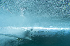 Surfer from underwater Royalty Free Stock Images