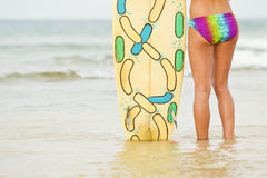 Surfer watching the surf Stock Photography