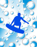 Surfer on water background Stock Photography