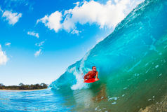 Surfer on Wave Stock Photography