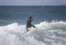 Surfer in the wave royalty free stock photos