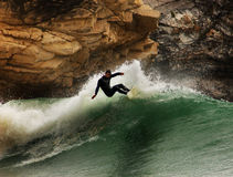Surfer on a wave Royalty Free Stock Photography