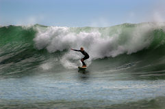 Surfer on a wave Stock Photo