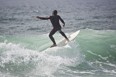 Surfer in the wave royalty free stock image