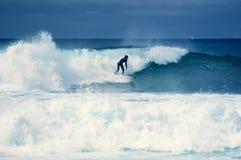 Surfer on wave Stock Image