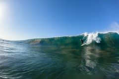 Surfer Wave Take Off Ride Water Photo Stock Image