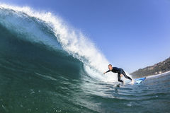 Surfer Wave Water Action Stock Image