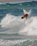 Surfer weg von der Lippe Lizenzfreie Stockfotografie