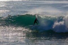 Surfer-Wellen-Taschen-Schwerpunkt Lizenzfreies Stockfoto