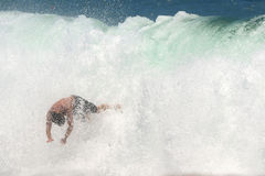 Surfer wipe-out 2 Stock Photos