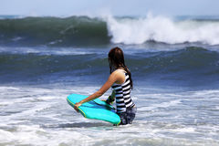 Surfer - woman Stock Photo