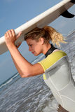 Surfer woman Royalty Free Stock Photography