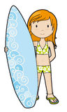 SurferGirl in bikini Stock Photography