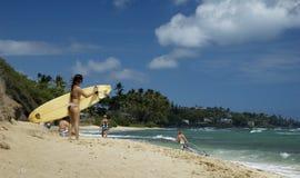Surfermädchen Stockfoto