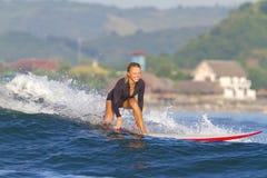 Surfermeisje. royalty-vrije stock foto's